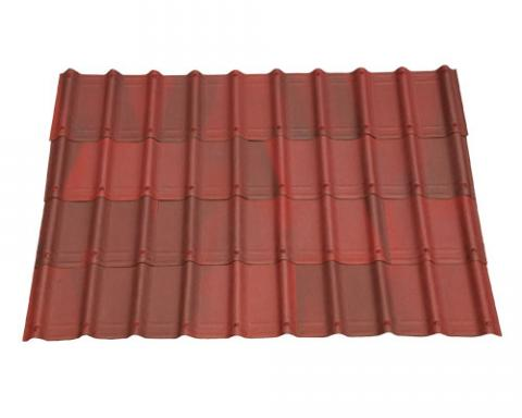 Shaded red villa roofing