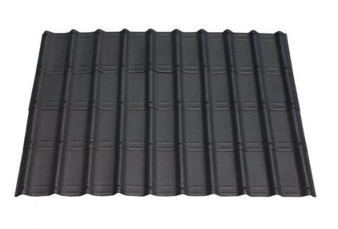 Slate black villa roofing