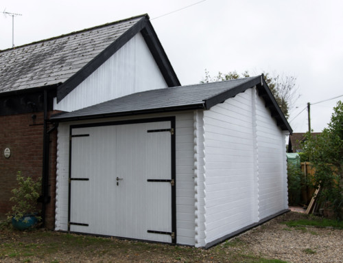Jim's eaves front Classic style garage