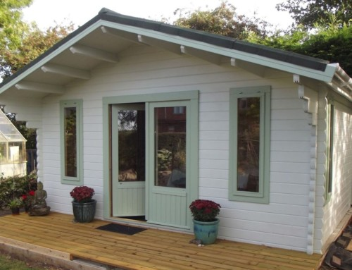 A new therapy room log cabin for Trish