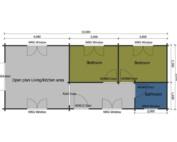 Keops Interlock Kingfisher caravan/mobile home floor plan