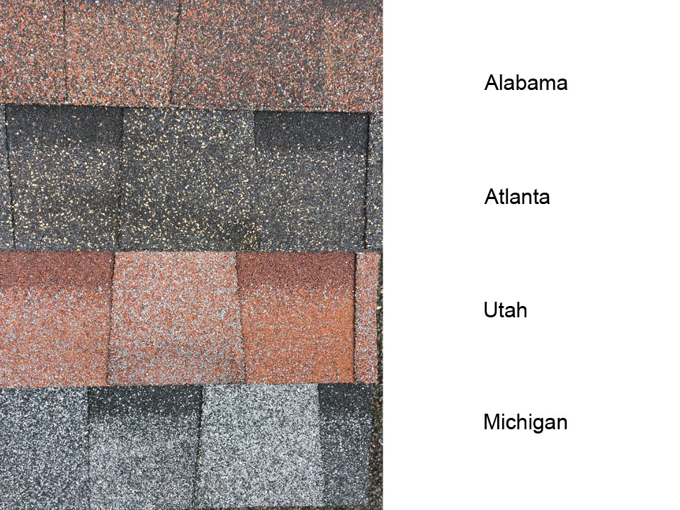 New Shinglas Country roof shingle colours