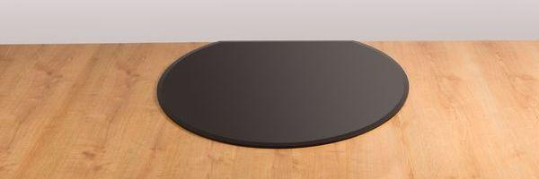 Morsø black glass hearth flat back