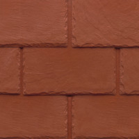 Tapco imitation slate roofing tiles in Brick Red