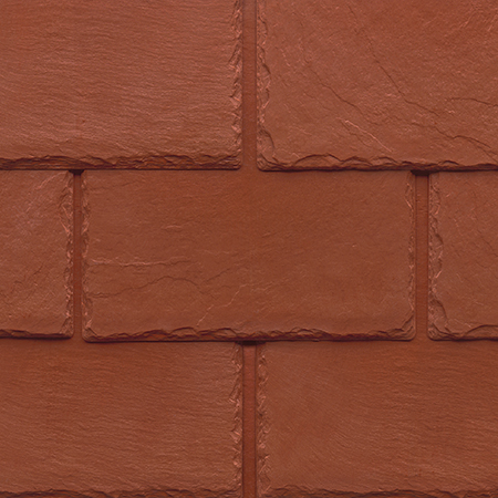Tapco imitation slate roofing tiles in Brick Red