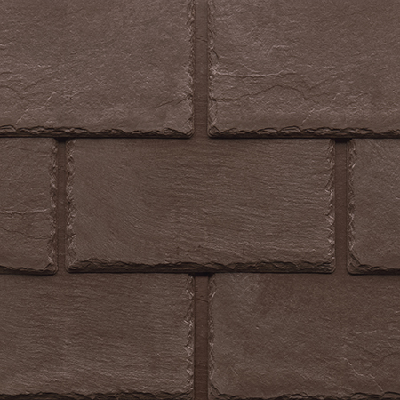 Tapco imitation slate roofing tiles in Chestnut Brown