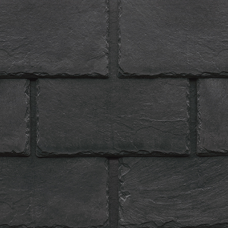 Tapco imitation slate roofing tiles in Stone Black