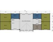 Heron caravan mobile home floorplan