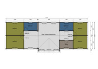 Heron caravan mobile home floorplan