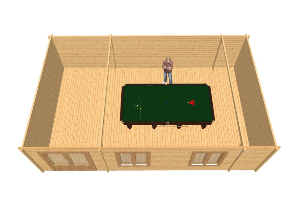 Snooker man cave 3d view