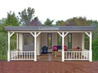 Lugarde Cannes B31 flat roof log cabin