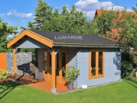 Lugarde Oslo B60 apex roof log cabin