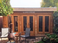 Lugarde Rouen B63 flat roof log cabin