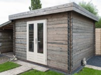 Lugarde Essen B8 flat roof log cabin