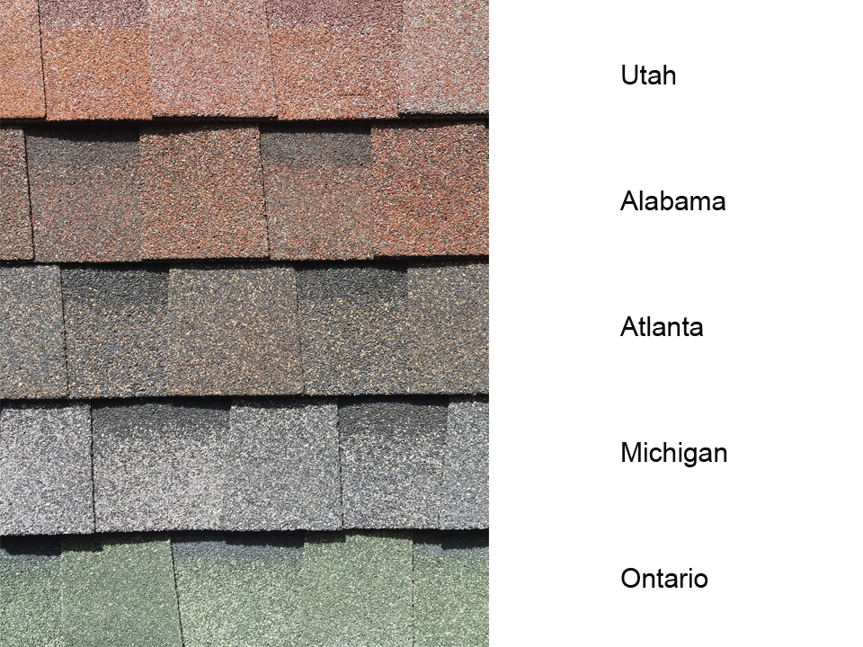 Country felt shingles in 5 colours