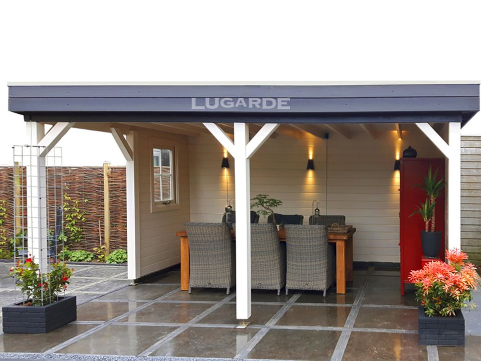Lugarde VV14 Pamplona flat roof gazebo