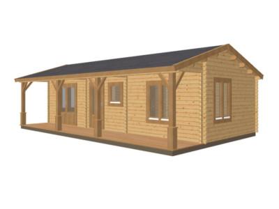 Keops Rosefinch caravan mobile home with veranda