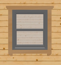 Anthracite Grey Sash Windows for Log Cabins