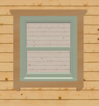 Chartwell green sash windows for log cabins