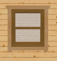 Golden oak sash windows for log cabins