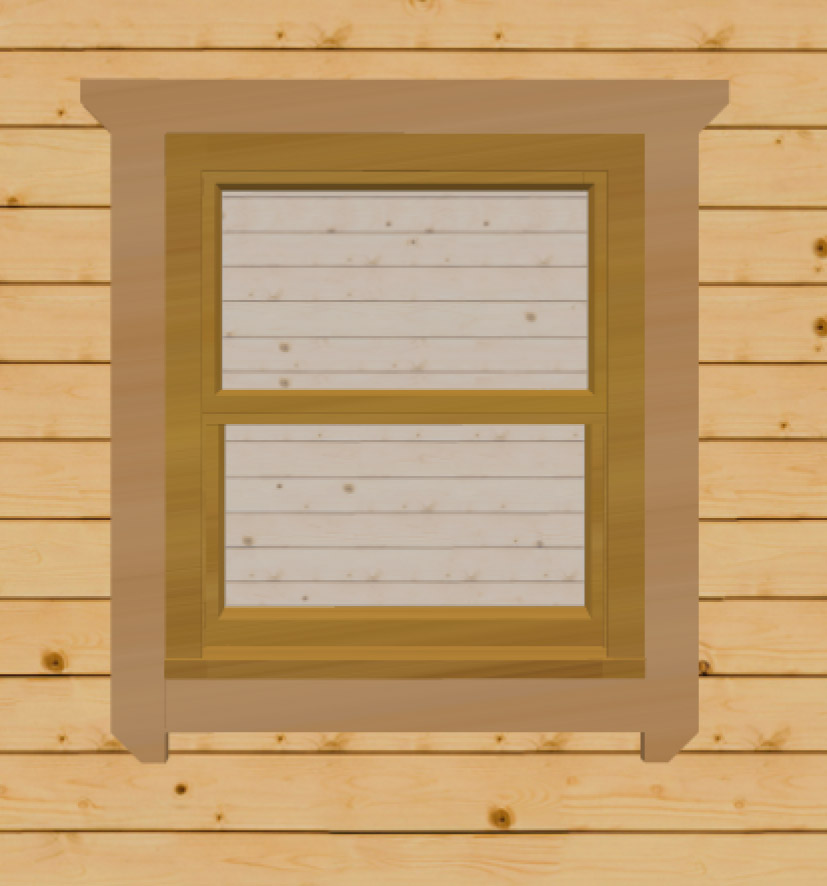 Irish oak sash windows for log cabins