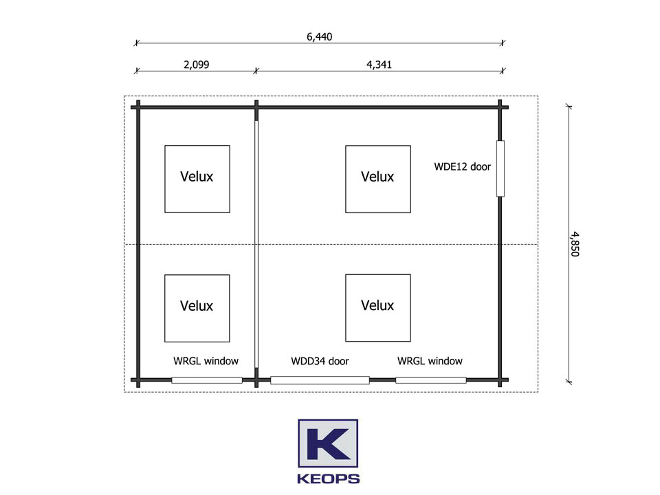 Keops Interlock Yoga Studio Floor Plan