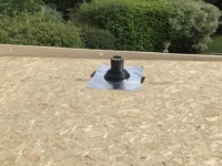 Flashing kits can be installed before roof coverings