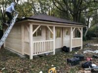 Keops Interlock Quatra style log cabin under construction