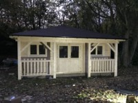 Keops Interlock 6m x 4.85m pyramid hipped roof log cabin