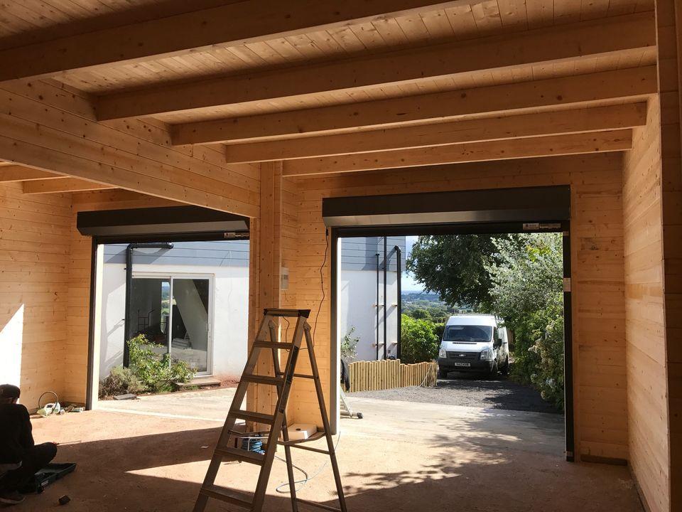 Roller garage doors inside