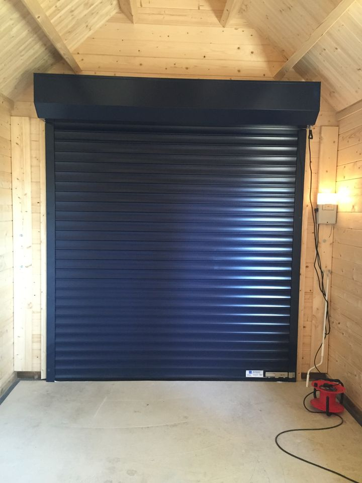 Inside view of roller garage door