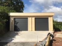 roller garage doors exterior graphite