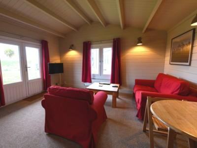 Keops Skylark caravan mobile home living room