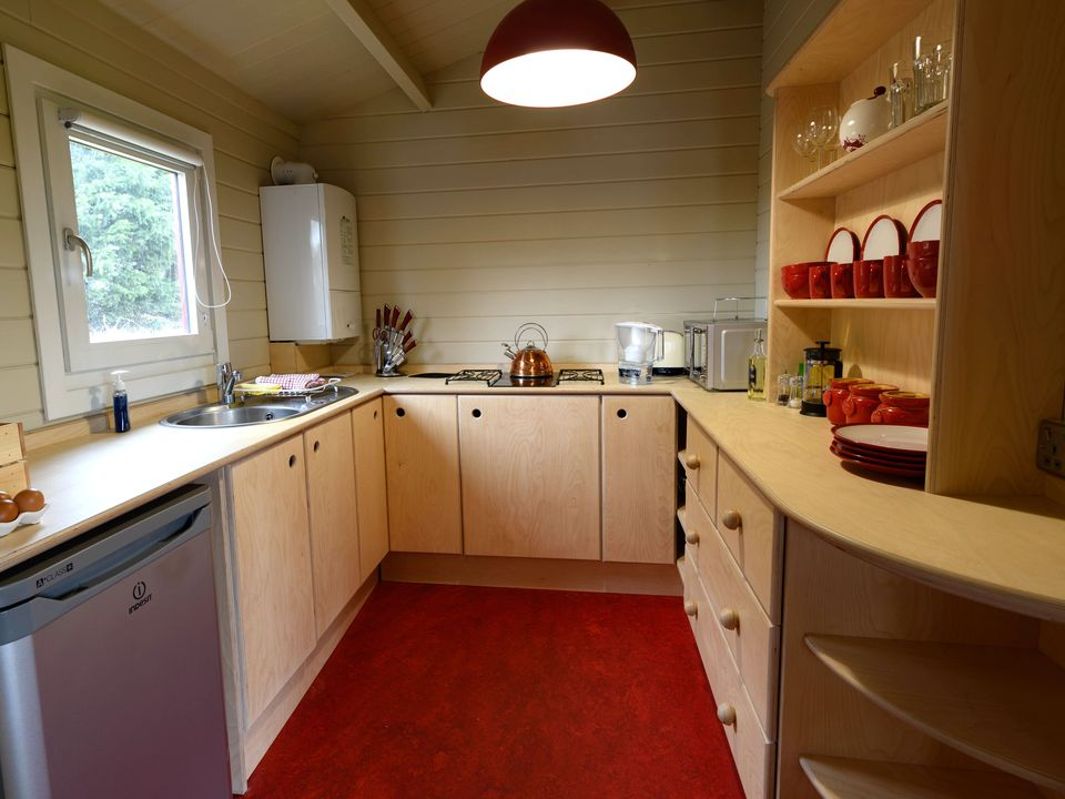 Keops Skylark caravan mobile home kitchen