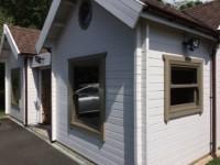 New Sash Windows for Keops Log Cabins