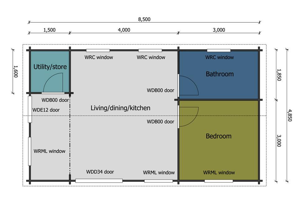 Keops Interlock Pipit mobile home/caravan floor plan