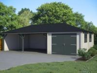 Keops pyramid roof garage 10m x 5.45m