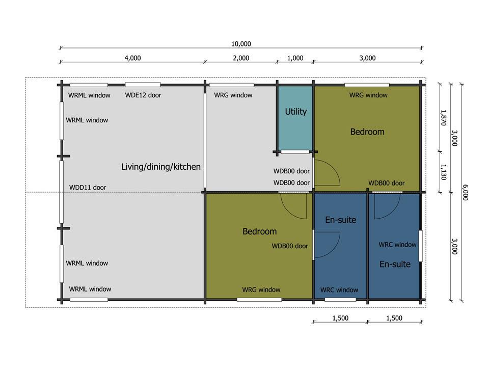 Kittiwake mobile home floor plan