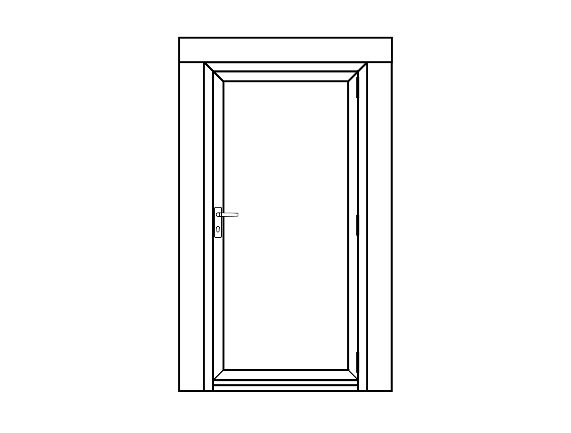 ADE11 single aluminium door