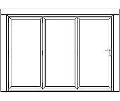 AF3 aluminium bi-fold door