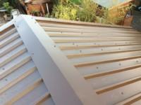 Metal box profile roofing ridge detail