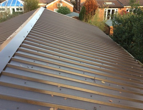 Metal box roofing
