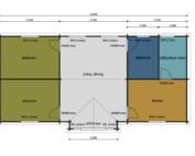Keops Oystercatcher caravan mobile home floor plan
