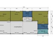 Keops Interlock Osprey caravan mobile home floor plan t