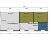 Keops Kingfisher mobile home floor plan