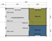 Keops Linnet Mobile Home Floor plan
