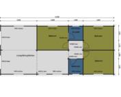 Keops Peregrine caravan mobile home floor plan