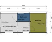 Keops Wren mobile home floor plan