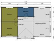 Keops Curlew caravan mobile home floor plan