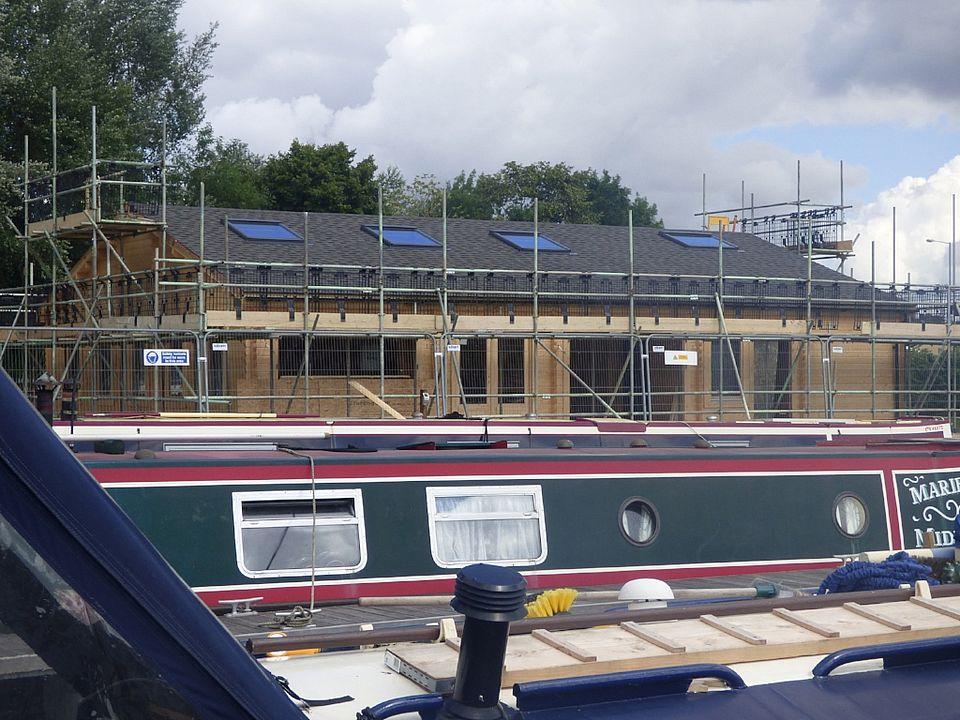 White Mills Marina - building the Boathouse Cafe